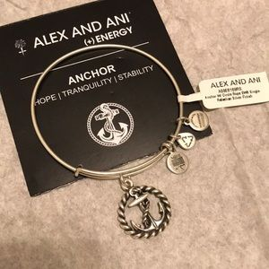 Retired Alex and Ani Silver Anchor w/ Circle Rope